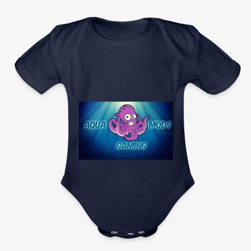 Aqua - Organic Short Sleeve Baby Bodysuit