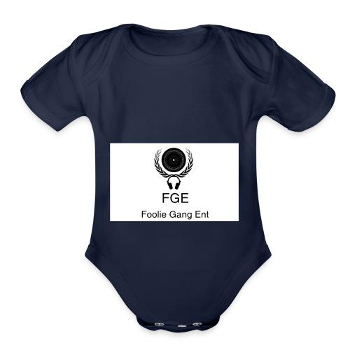 fge logo - Organic Short Sleeve Baby Bodysuit