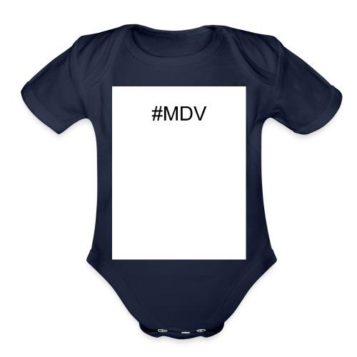 MDV - Organic Short Sleeve Baby Bodysuit