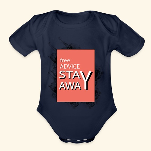 free advice - Organic Short Sleeve Baby Bodysuit