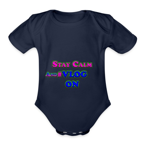 Vlog On - Organic Short Sleeve Baby Bodysuit
