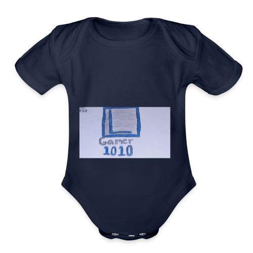 Luis Gamer 1010 merch - Organic Short Sleeve Baby Bodysuit
