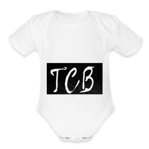 The Crazy Bros flag - Organic Short Sleeve Baby Bodysuit