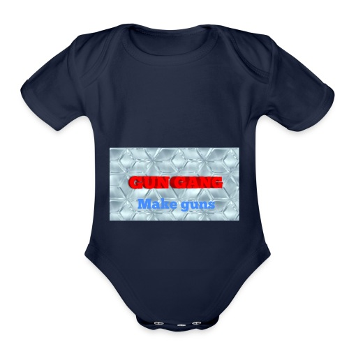 THE GUNS - Organic Short Sleeve Baby Bodysuit