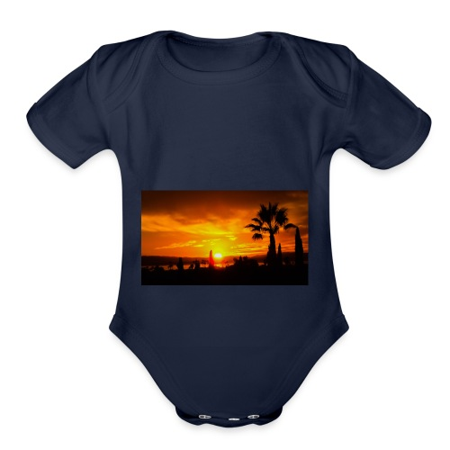 last sunset - Organic Short Sleeve Baby Bodysuit