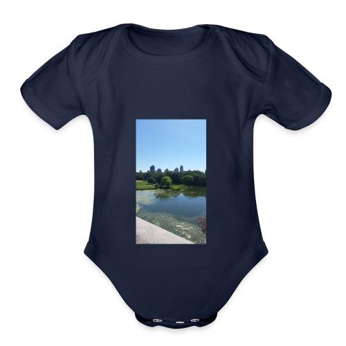 New York scenery - Organic Short Sleeve Baby Bodysuit