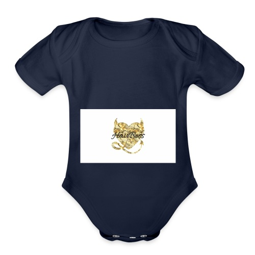 HairBoss - Organic Short Sleeve Baby Bodysuit
