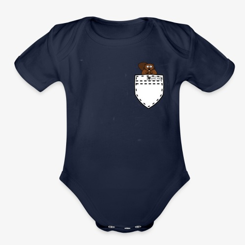 POCKET SQUIRREL - Organic Short Sleeve Baby Bodysuit