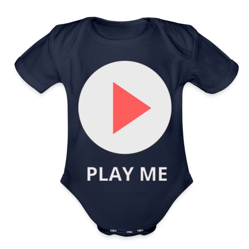 play me - Organic Short Sleeve Baby Bodysuit