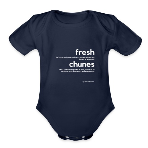 Clothing for All Urban Occasions (Bk+Wt) - Organic Short Sleeve Baby Bodysuit