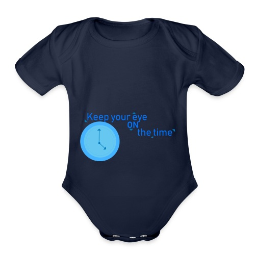 Time - Organic Short Sleeve Baby Bodysuit