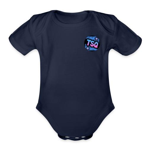 TSQ logo - Organic Short Sleeve Baby Bodysuit
