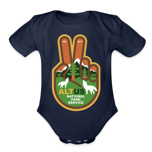 ALT US National Park Service - Peace - Organic Short Sleeve Baby Bodysuit
