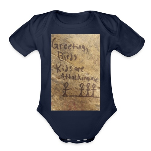 Kids are attacking me - Organic Short Sleeve Baby Bodysuit