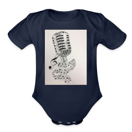 Microphone - Organic Short Sleeve Baby Bodysuit