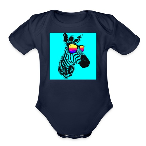 logo merch nate99 - Organic Short Sleeve Baby Bodysuit