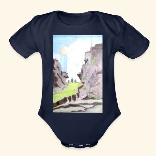 LANDSCAPE MULTI COLOUR - Organic Short Sleeve Baby Bodysuit