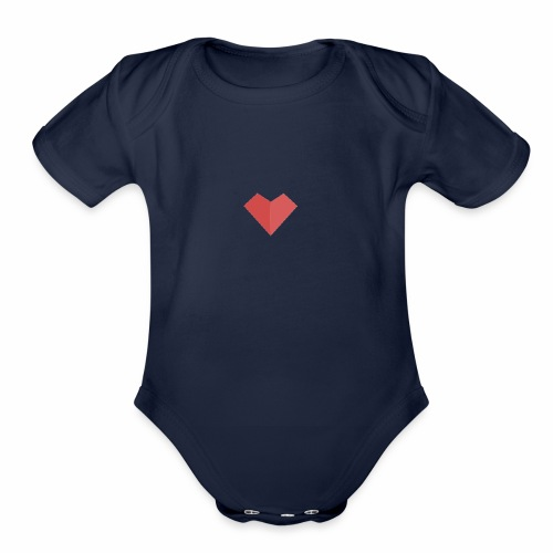 a loving heart on your clothing - Organic Short Sleeve Baby Bodysuit