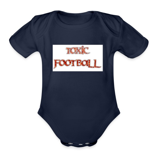 Flaming toxic football - Organic Short Sleeve Baby Bodysuit