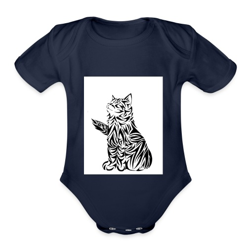 cats - Organic Short Sleeve Baby Bodysuit