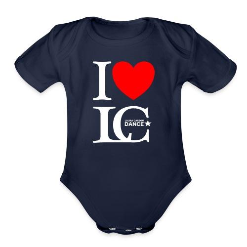 I Heart LCDance - Organic Short Sleeve Baby Bodysuit