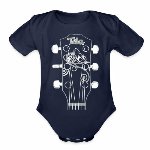 Tela Guitar - Organic Short Sleeve Baby Bodysuit