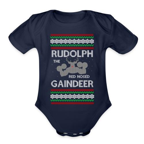 Rudolph the Gaindeer - Organic Short Sleeve Baby Bodysuit