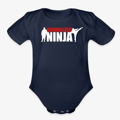 The Downsized Ninja - Organic Short Sleeve Baby Bodysuit