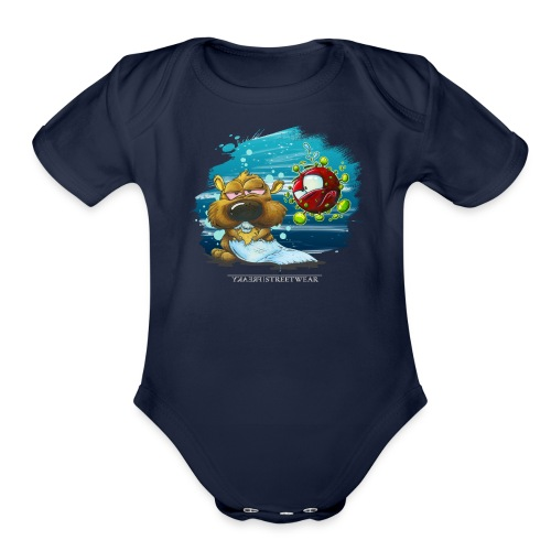 the tragic of life - Organic Short Sleeve Baby Bodysuit