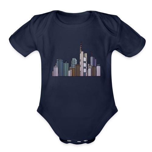Frankfurt skyline - Organic Short Sleeve Baby Bodysuit