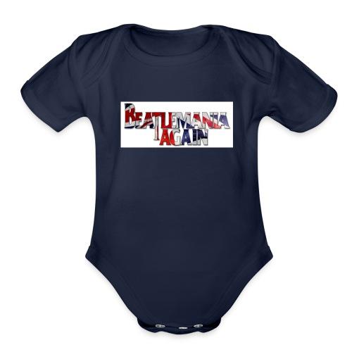 Beatlemania Again Tour Merchandise - Organic Short Sleeve Baby Bodysuit