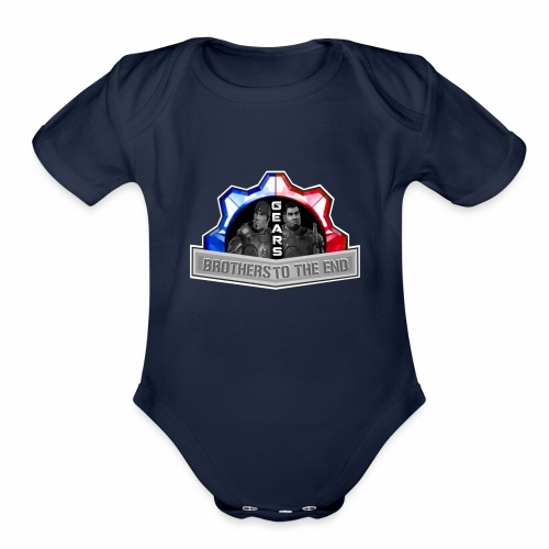 BROS TO THE END GEARS - Organic Short Sleeve Baby Bodysuit