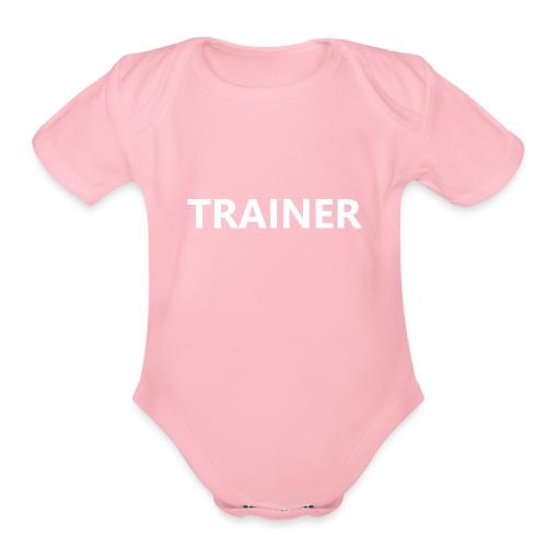 Trainer - Organic Short Sleeve Baby Bodysuit