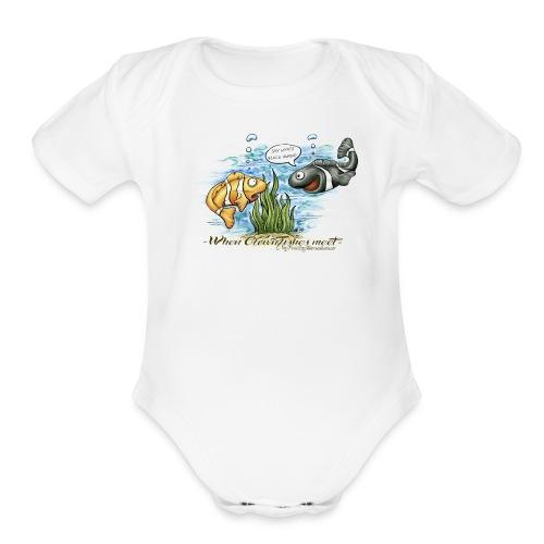 when clownfishes meet - Organic Short Sleeve Baby Bodysuit