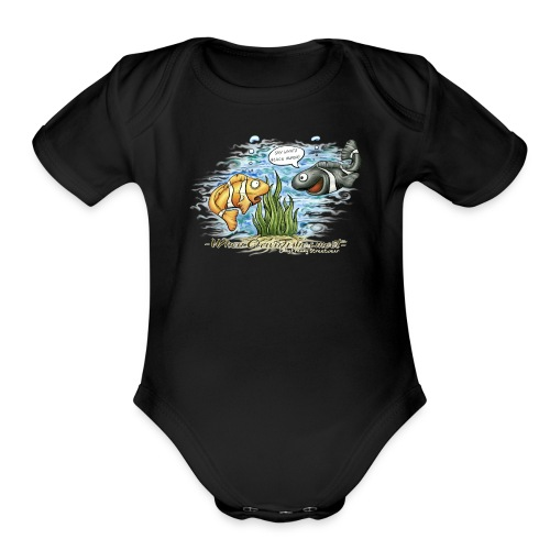 when clownfishes meet - Organic Short Sleeve Baby Bodysuit