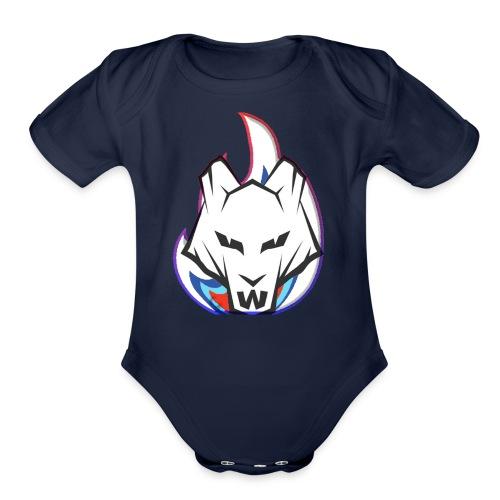 Wolf Flame - Organic Short Sleeve Baby Bodysuit