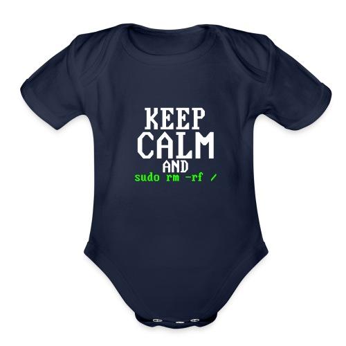 Sudo rm rf - Organic Short Sleeve Baby Bodysuit