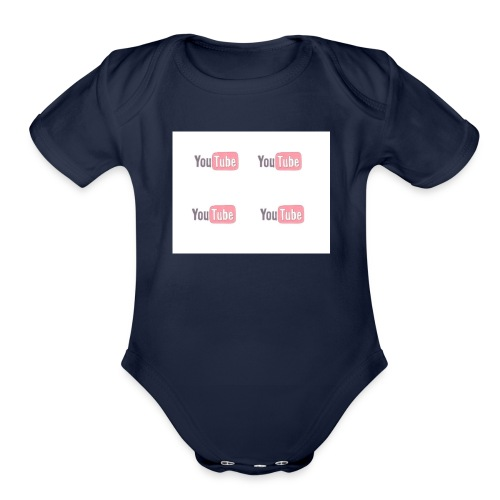 youtube_x4 - Organic Short Sleeve Baby Bodysuit