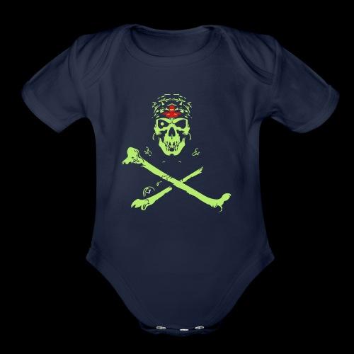 Halloween And Danger Design - Organic Short Sleeve Baby Bodysuit