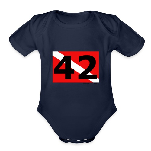 Ultimate ? of Life, the Universe, and Everything! - Organic Short Sleeve Baby Bodysuit