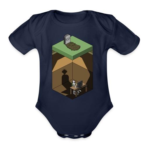 R.I.P. Social Life - Organic Short Sleeve Baby Bodysuit