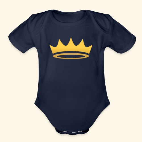 The Famous One - Crown - Organic Short Sleeve Baby Bodysuit