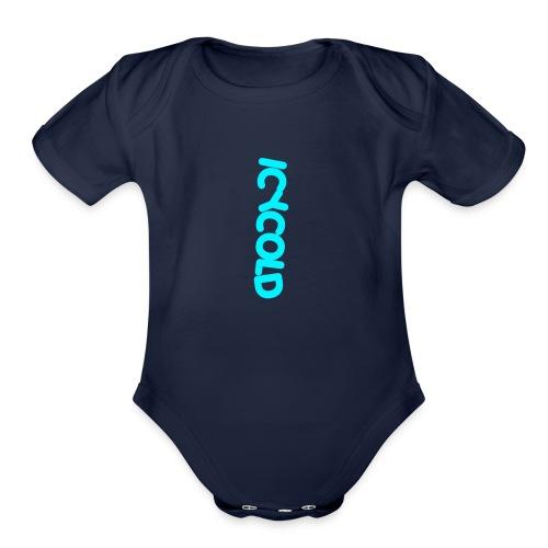 Icy cold - Organic Short Sleeve Baby Bodysuit
