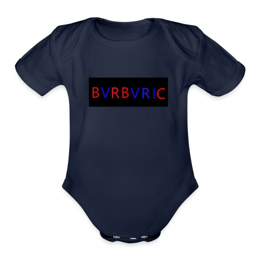 Red and blue Montage - Organic Short Sleeve Baby Bodysuit