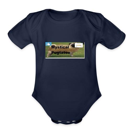 mystical pugtatoe symbol - Organic Short Sleeve Baby Bodysuit