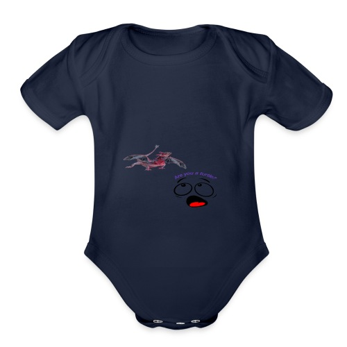 Confused - Organic Short Sleeve Baby Bodysuit