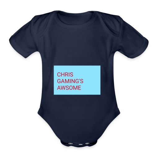 CHRIS GAMING'S AWSOME - Organic Short Sleeve Baby Bodysuit