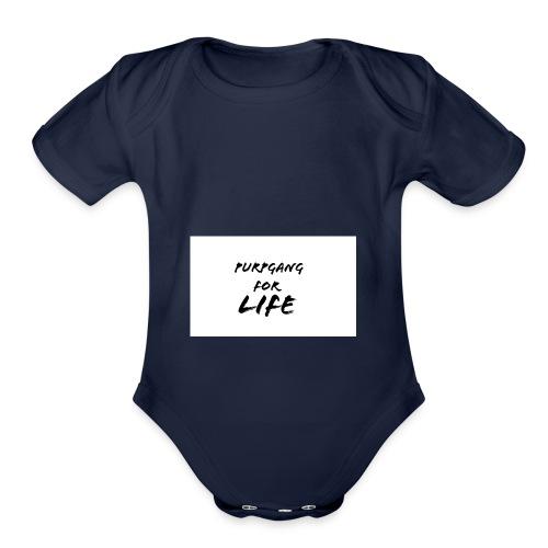 Purpgang - Organic Short Sleeve Baby Bodysuit