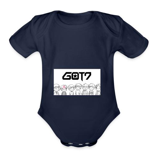got7 - Organic Short Sleeve Baby Bodysuit