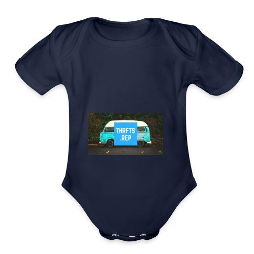 thrfts rep - Organic Short Sleeve Baby Bodysuit